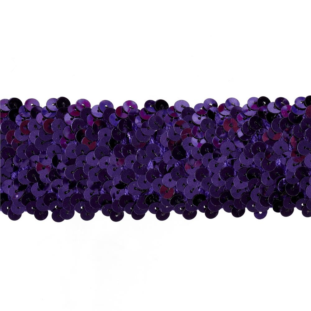 Team Spirit #70 Sequin Trim Plum