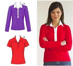 Kwik Sew Misses Fitted Pull-over Knit Shirts Pattern
