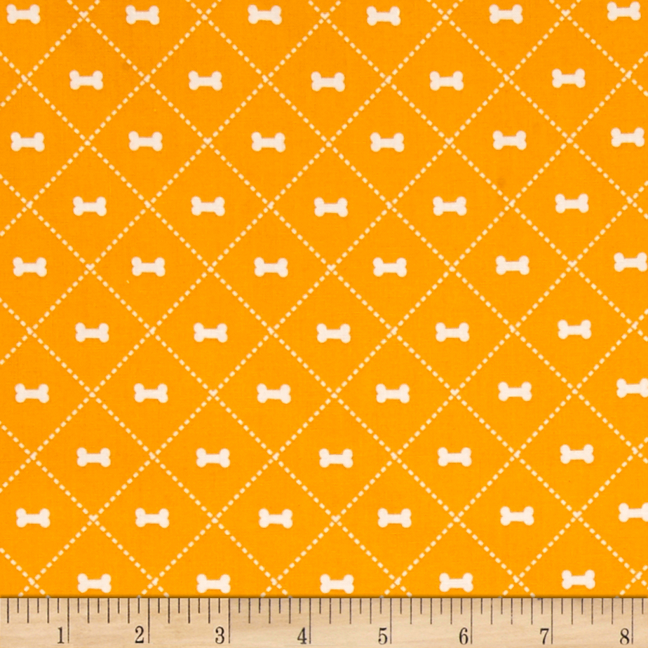 Riley Blake Rover Bone Orange Fabric