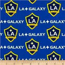 MLS Cotton Broadcloth Los Angeles Galaxy Royal