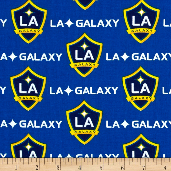 MLS Cotton Broadcloth Los Angeles Galaxy Royal Fabric by Fabric Traditions in USA
