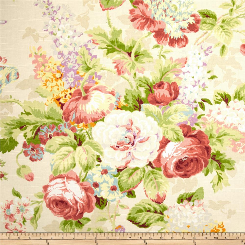 Covington Lismore Gardens Floral Slub Multi Fabric By The Yard