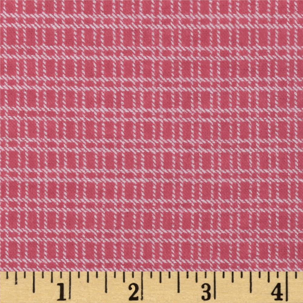 Aunt Polly's Flannel Medium Checkered Pink/White