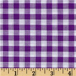 "Richcheck 60"" Gingham Check 1/4"" Purple"