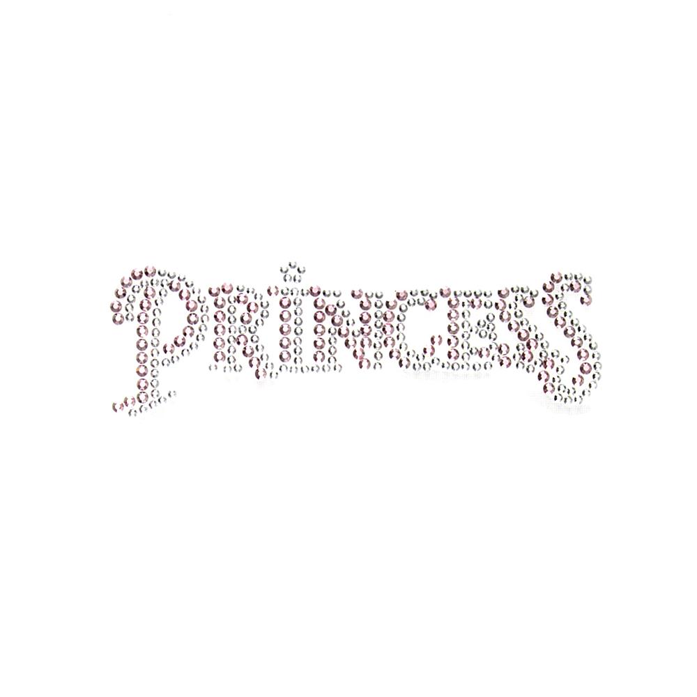 Princess Rhinestud Applique Light Pink