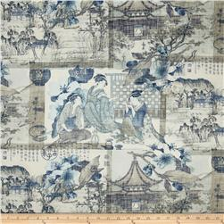 Richloom August Moon Toile Twill Ming Blue