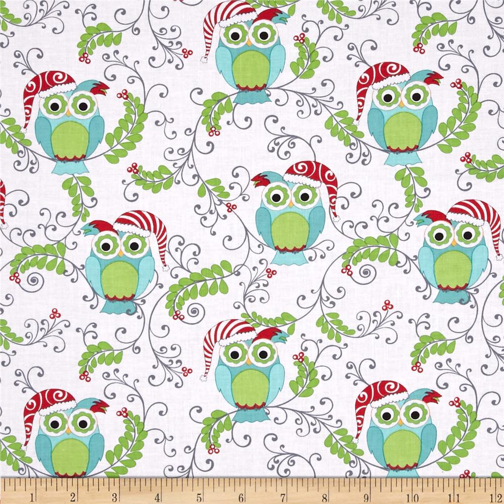 Frosty Forest Forest Owl White/Multi