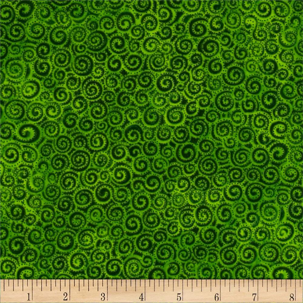Laura Burch Swirls Light Green