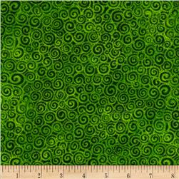 Laurel Burch LB Basic Circle Swirls Green
