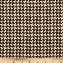 Madeline Shirting Houndstooth Cream/Chocolate