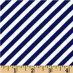 Timeless Treasures Seaside Bias Stripe Sapphire