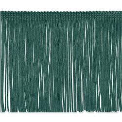 4'' Chainette Fringe Trim Teal