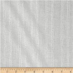 Leno Cotton Stripe Gauze White