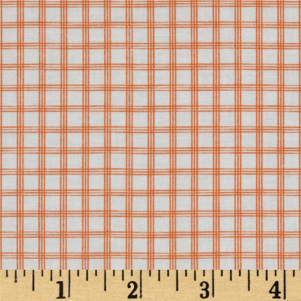 Citrus Tattersall Plaid Orange