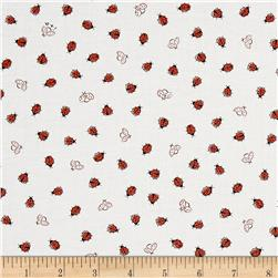 Ink & Arrow Little Buggers Ladybugs White