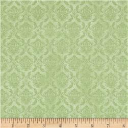 On Top of the World Damask Green
