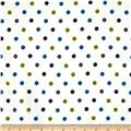 Cozy Cotton Flannel Dots Marine