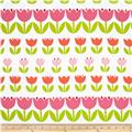 Contempo Palm Springs Tulips Orange/Pink/White
