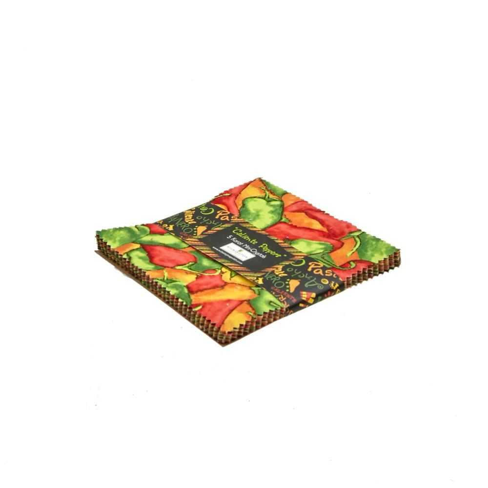 "Caliente Peppers 5"" Squares"