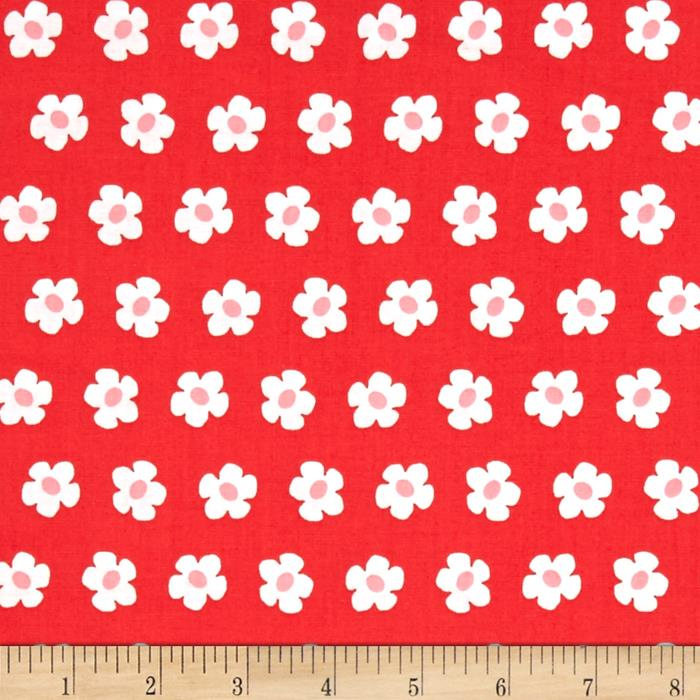 Kaufman Whatever The Weather Daisy Cherry
