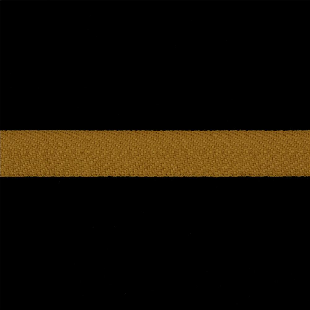 3/4'' Poly Twill Tape Ribbon Butterscotch