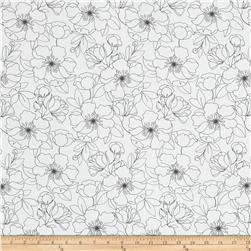 The Coloring Collection Floral White