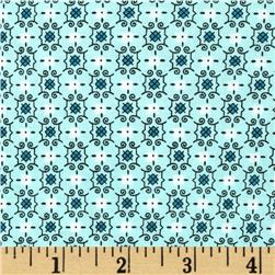 Cotton & Steel Homebody Boxer Print Aqua