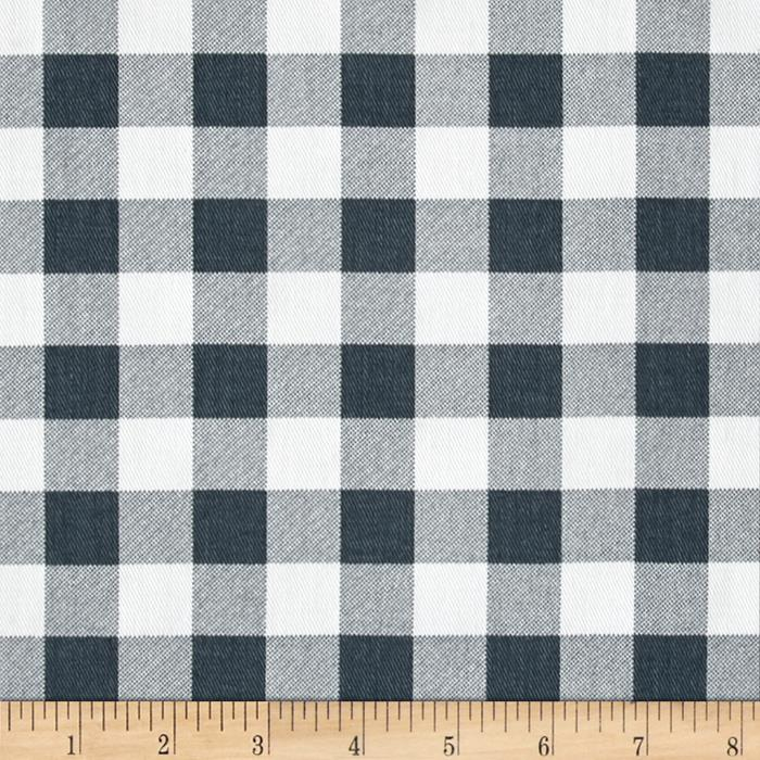 Premier Prints Plaid Twill Gunmetal