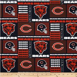 NFL Wide Cotton Broadcloth Chicago Bears Patchwork Blue/Orange