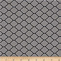 Joel Dewberry True Colors Lodge Lattice Grey Fabric