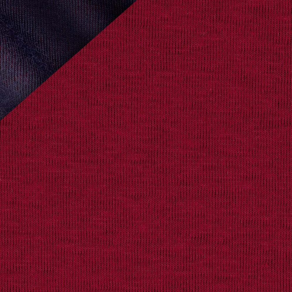 Double Cloth Knit Navy/Red
