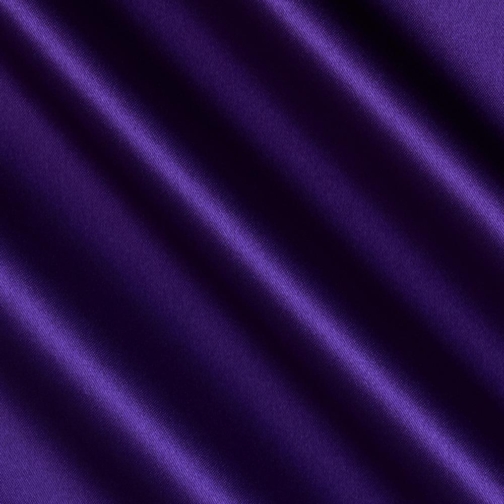 Debutante Stretch Satin Fabric Grape