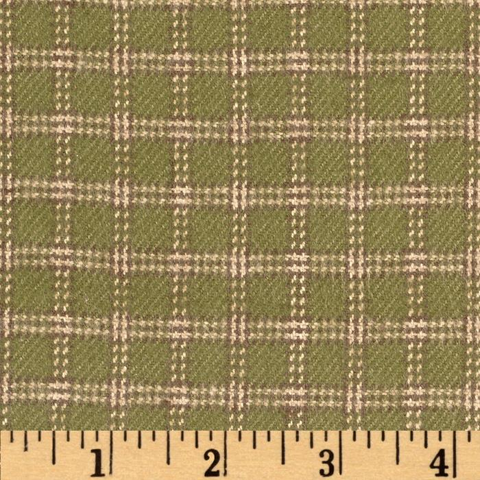 Primo Plaids V Flannel Plaid Square Green