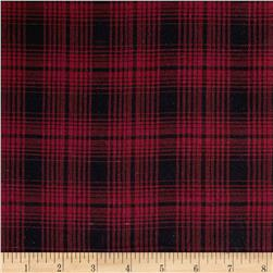 Yarn Dyed Flannel Plaid Wine/Black