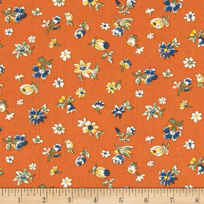 Fall Frolic Small Floral Orange