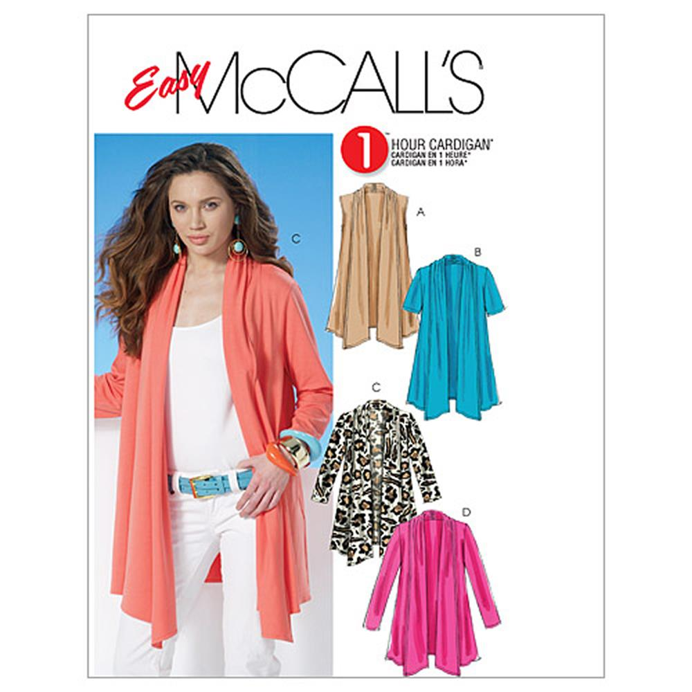 McCall's Misses' Cardigans Pattern M6084 Size 0Y0