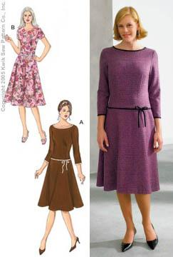 Kwik Sew A-Line Fitted Dresses Pattern