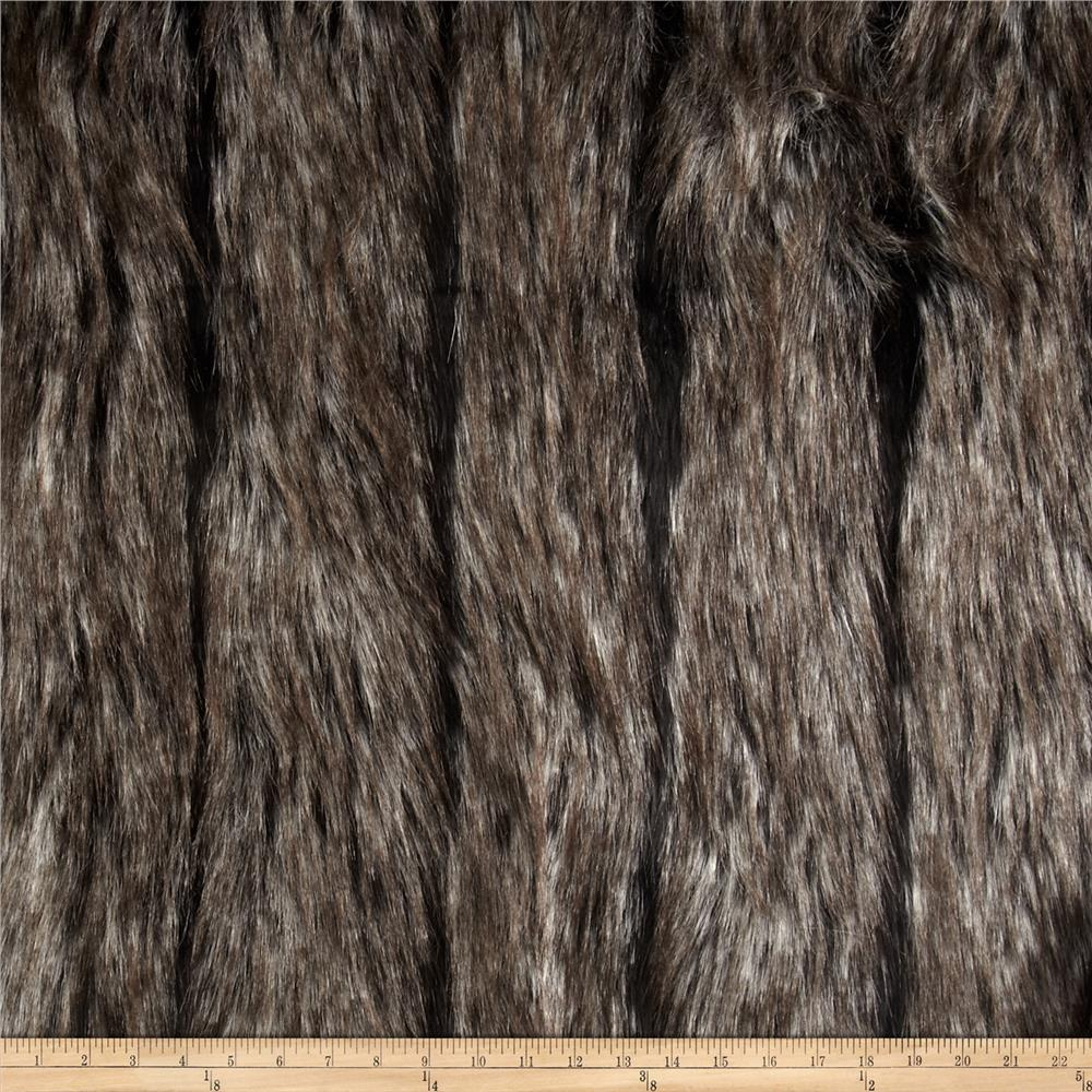 Night Fox Faux Fur Black/Silver