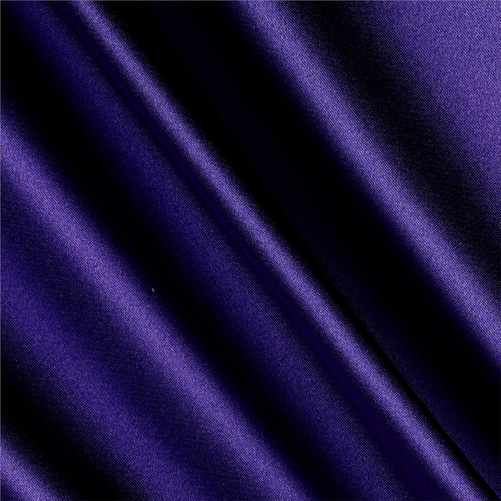 Silky Satin Charmeuse Solid Purple Fabric By The Yard