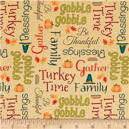 Give Thanks Words Cream