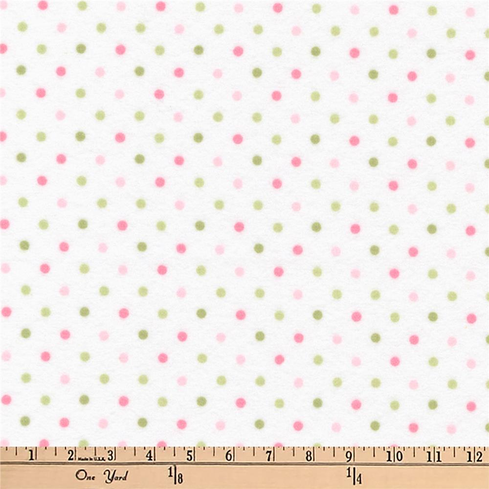 Kaufman Cozy Cotton Flannel Dots Slipper Fabric