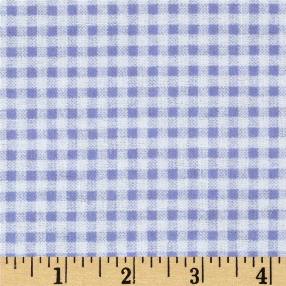 Camelot Flannel Gingham Periwinkle