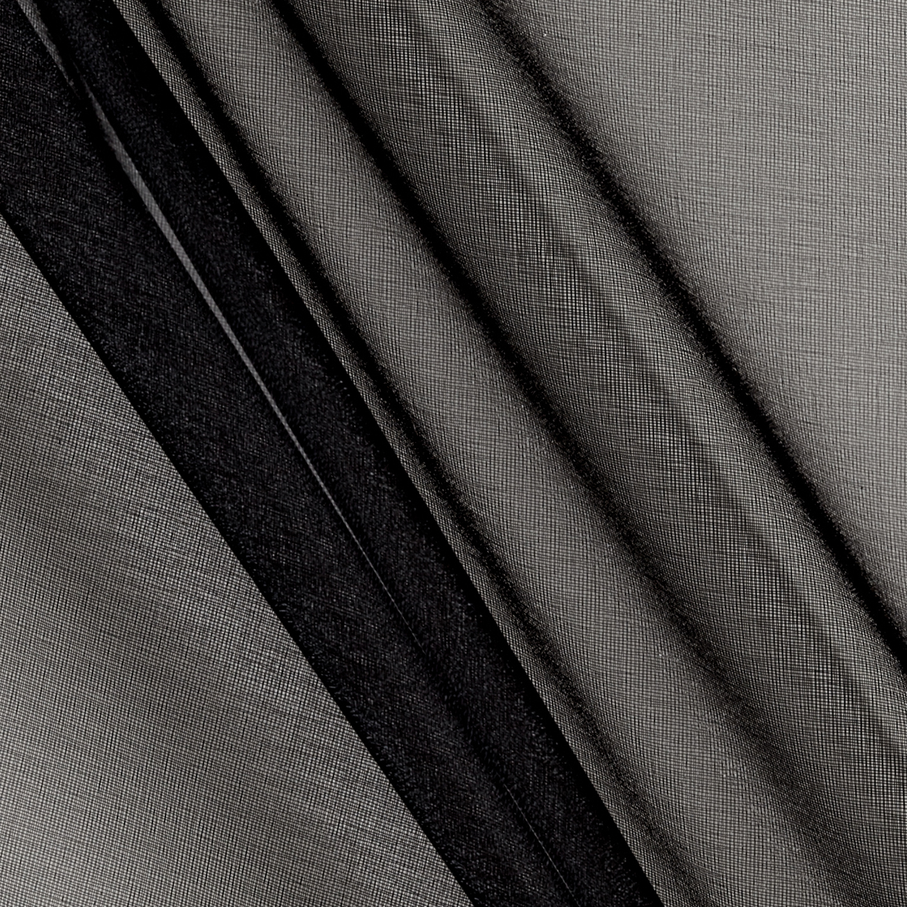 Organdy Organza Black Fabric by Textile Creations in USA