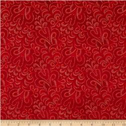 LaScala 5 Metallics Strippled Tonal Scarlet