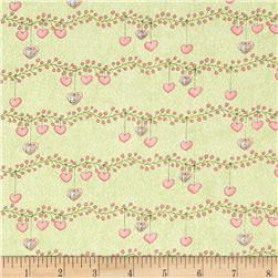 Bird Wise Heart Stripe Green
