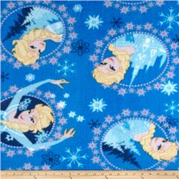 Disney Frozen Fleece Elsa Framed Toss Blue