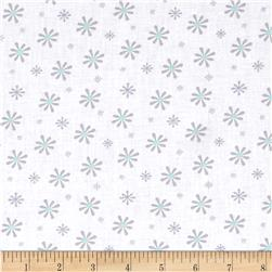 Silk Road Retro Daisies White/Grey