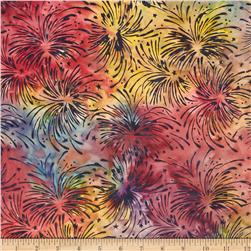 Island Batik Quilted in Honor Batik Fireworks Camo/Multi