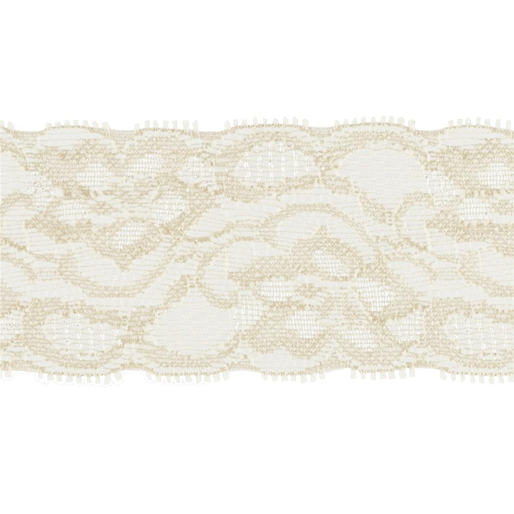 "Riley Blake 2"" Elastic Lace Cream"