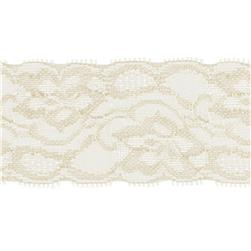Riley Blake 2'' Elastic Lace Cream